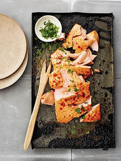 This Simple Salmon Recipe Was MADE For Weekend Entertaining | This is one of Gwyneth Paltrow's favorite summer recipes from her cookbook. We can't get enough of it. #SELFmagazine
