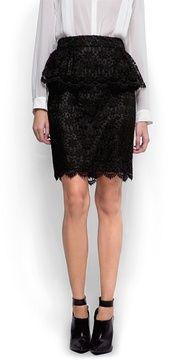 Lace peplum skirt on shopstyle.com