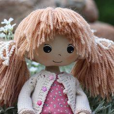 Купить Полина текстильная кукла - розовый, кремовый, куколка, кукла в подарок…
