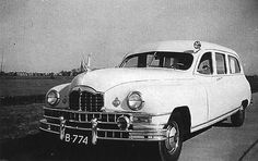 Vintage capture of Smit-Joure Packard ambulances in Holland.