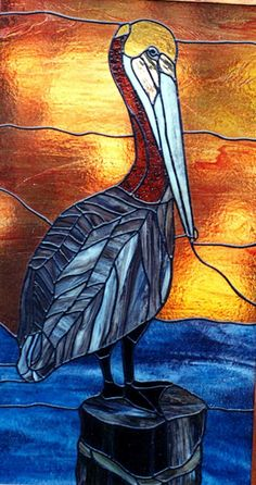 Image result for pelican stained glass