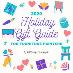 Furniture Painting Techniques, Painting Furniture, Diy Painting, Holiday Gift Guide, Holiday Gifts, Dixie Belle Paint, All Things New, Good Tutorials, Mineral Paint