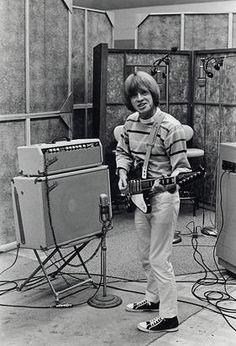 Brian Jones with his Gibson Firebird, 1965.