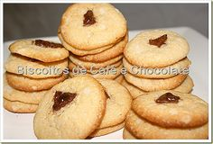 Doces Temperos: Biscoitos de café e chocolate