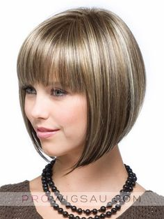 A sharp, asymmetrical angled bob with blunt-cut bangs and a super cool vibe. Bob Hairstyles With Bangs, Bob With Bangs, Wigs With Bangs, Winter Hairstyles, Short Hairstyles For Women, Wig Hairstyles, Straight Hairstyles, Full Bangs, Straight Bangs
