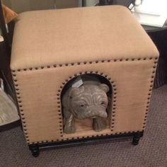 Ottoman/Dog House by Noir Furniture.