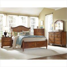Broyhill Hayden Place Panel Storage Bed 5 Piece Bedroom Set In Oak    4645 5Pc