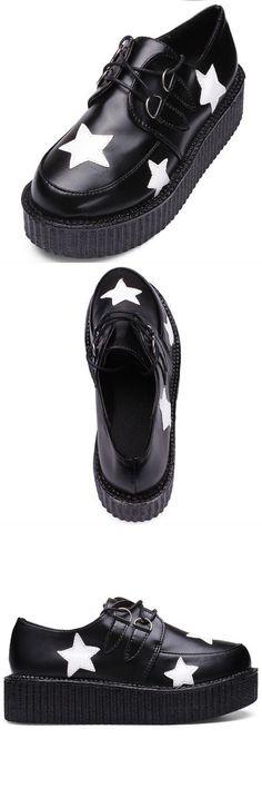 Retro women platform lace up flat creepers punk goth shoes 3 platforms of remote sensing #3 #platforms #of #media #o #gauge #platform #pokemon #y #platforms #y-3 #platform #penny #ii