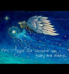 Wishing everyone angel blessings today.feeling the love! by in the Light 😇 Reiki Angelico, Angel Protector, Angel Quotes, Angel Sayings, Angel Prayers, I Believe In Angels, My Guardian Angel, Angel Pictures, Angels In Heaven