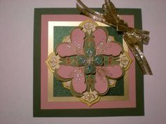 Holly Berry House Medallion Card Made by Donna Stanton