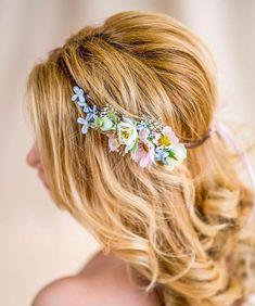 Blumenkranz Hochzeit Haarband Blumen Dirndl Krone von Princess Mimi auf DaWanda.com
