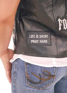 Jesus Forever Patched Leather Vest