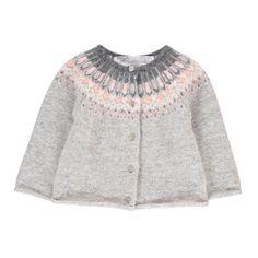 Jacquard Merino Wool & Angora Cardigan-product