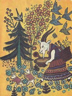 Yuri Vasnetsov , Russian folk song , via HannaRivka