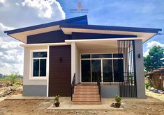 8 box-house design you can build in with a small budget House Floor Design, 3 Storey House Design, Simple House Design, Cool House Designs, Modern Bungalow House, Simple Bungalow House Designs, Rural House, Small Cottage Designs, Small Modern House Plans