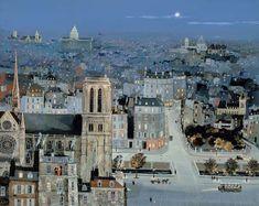 Favorite Artist - Michel Delacroix ;       Title - La Nuit Bleue