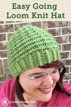 Loom knit this cozy textured hat with Kristen of GoodKnit Kisses www. : Loom knit this cozy textured hat with Kristen of GoodKnit Kisses www.goodknitkis… Loom knit this cozy textured hat with Kristen of GoodKnit Kisses www. Loom Knitting For Beginners, Round Loom Knitting, Loom Knitting Stitches, Bamboo Knitting Needles, Knifty Knitter, Loom Knitting Projects, Knitting Kits, Knitting Tutorials, Free Knitting