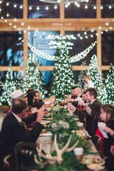 Winter wedding reception  (Photo by Trisha Kay Photography)