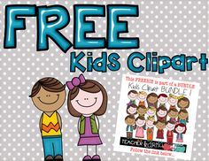 FREE Kids Clipart TeacherKarma.com