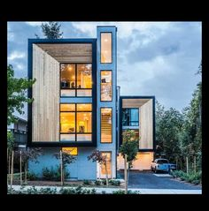 Town house  in Seattle. Golden section proportions