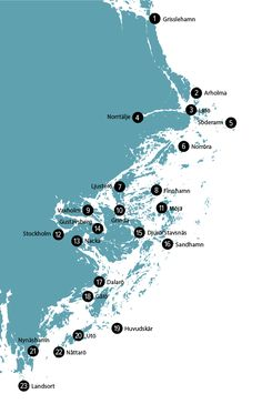 Map of Stockholm Archipelago