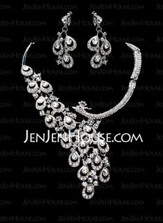 Jewelry - $42.99 - Jewelry Sets Anniversary Wedding Engagement Birthday Gift Party Alloy With Rhinestones Silver Jewelry With Rhinestone (011019315) http://jenjenhouse.com/Jewelry-Sets-Anniversary-Wedding-Engagement-Birthday-Gift-Party-Alloy-With-Rhinestones-Silver-Jewelry-With-Rhinestone-011019315-g19315
