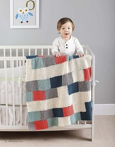 Colorful Subway Crochet Baby Blanket Pattern