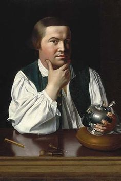 John Singleton Copley painted this portrait of his friend, Paul Revere…
