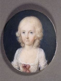 Miniature of Maria Theresa of Naples and Sicily.