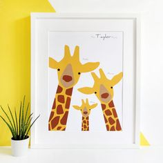 I've just found Personalised Giraffe Family Selfie Portrait Print. This super cute family portrait features all the members of your family as charming giraffes! Personalise it as a gift or for your own home. Giraffe Illustration, Family Illustration, Digital Illustration, Sea Animals Drawings, Family Drawing, Book Drawing, Giraffe Family, Cute Family, Button Art