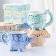 How To Make Breakfast, How To Make Tea, Dinosaur Mug, Origami Design, Matching Gifts, T Rex, Moscow Mule Mugs, Highlight, Scary