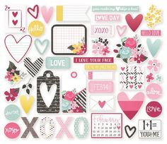 Simple Stories - Love and Adore Collection - Bits and Pieces