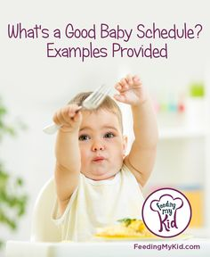 What is a good baby feeding schedule? If you are not sure when to give your baby solids as it relates to nursing or bottle then pin this article. It quick and easy to follow.