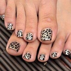 Cool Leopard Print Toe Nails
