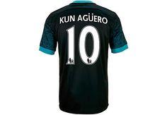 Nike Kun Aguero Manchester City Away Jersey 2015-16