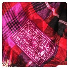 Gorgeous Coach 100% silk scarf! Gorgeous 100% silk scarf! Purple, pink  and magenta colors. Comes with Coach scarf bag. Coach Accessories Scarves & Wraps