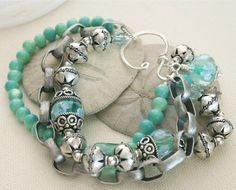 lampwork beads bracelet
