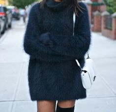 Fluffy Knits - I need a white oversized fluffy sweater, I want to feel like I'm wearing a little cloud.