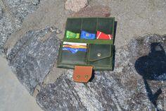 """Купить Портмоне зеленое """"Travel"""" - зеленый, красивый, надежный, отличный подарок, портмоне из кожи"""