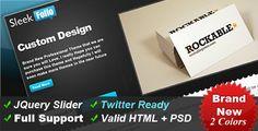 SleekFolio - Web 2.0 Designer Portfolio Design