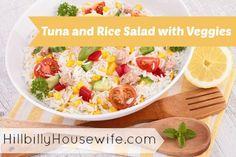 Tuna and Rice Salad with Veggies | Hillbilly Housewife