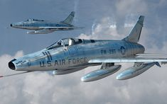 F-100 Super Sabre Flight Military Jets, Military Aircraft, Military Weapons, Air Fighter, Fighter Jets, Air Vietnam, Old Planes, Airplane Art, Military Pictures