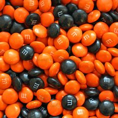 For The Love of Candy. — Black and Orange M&M's Candy! Perfect treat for.