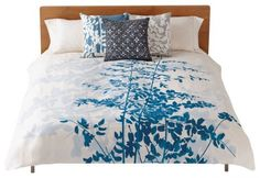Turquoise and white duvet cover