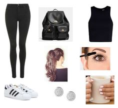 """Untitled #248"" by amssxxx ❤ liked on Polyvore featuring adidas, T By Alexander Wang, Coach and Topshop"