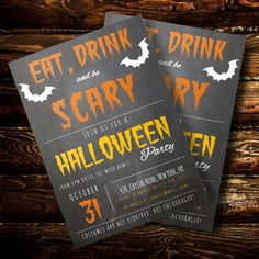Halloween Party Invitation | Party Invitation Template | Halloween Party Invitation Template | Halloween Invitation | Instant Download by DocXshop on Etsy