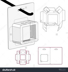Display Box With Die-Cut Pattern Stock Vector Illustration 165540299 : Shutterstock