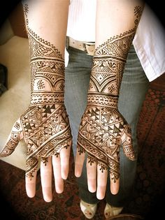 carrie's moroccan mehndi for burning man by HennaLounge, via Flickr