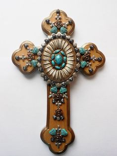 CROSS OOAK hand painted found objects by CrossMyArtByLynnWebb, $95.00