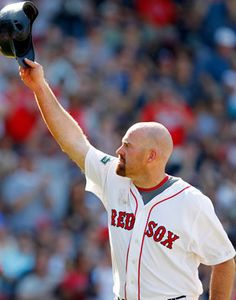 Kevin Youkilis tripled before leaving his final game with the Red Sox.   Missed already!!!